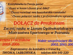 NABÓR do Liceum Ogólnokształcącego Mistrzostwa Sportowego w Poznaniu